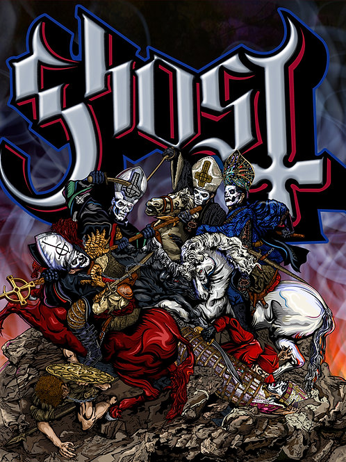 GHOST - The Four Horsemen - Signed Print - Limited edition of 50