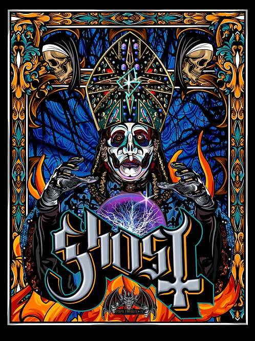 GHOST Papa Emeritus IV - Signed Print - Limited edition of 100