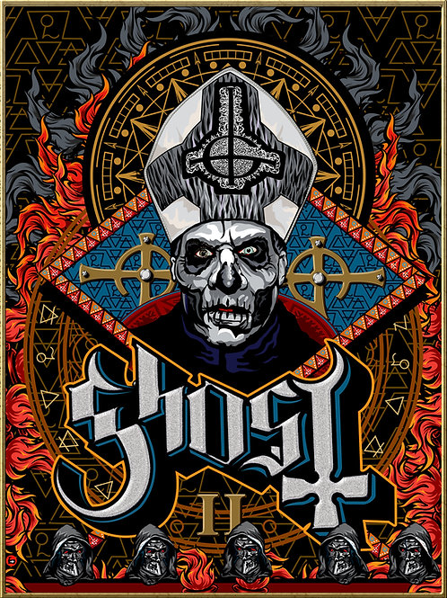 GHOST Papa Emeritus II - Signed Print - Limited edition of 100