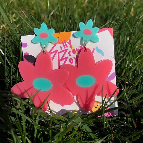 Pink/Teal Dizzy Daisy