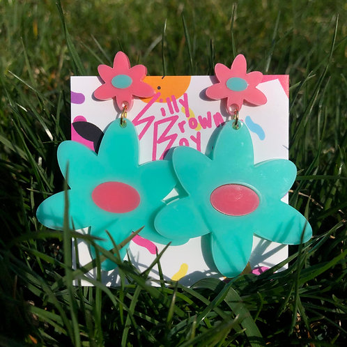 Teal/Pink Dizzy Daisy
