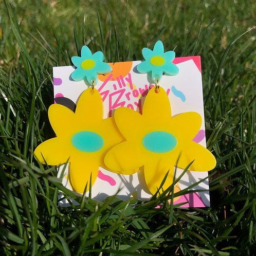 Yellow/Teal Dizzy Daisy