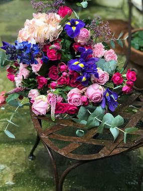 bouquet élégant dans le couleurs vives