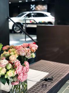 Ateliers et décoration florale DS automobiles