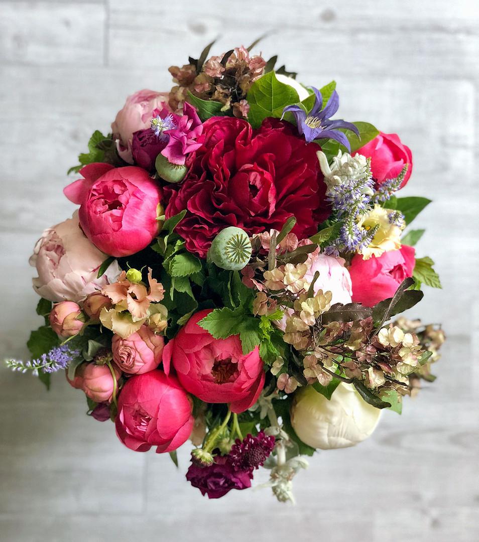 bouquet elegant dans les couleurs vives
