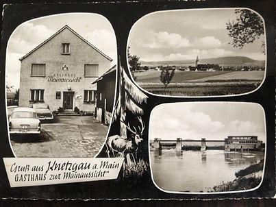 Knetzgau Speiselokal Gasthaus Mainaussicht Ansicht Catering Partyservice