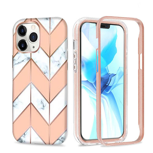 Apple iPhone 12 / iPhone 12 Pro (6.1 inch) Hybrid Marble Pattern Stylish Full Pr