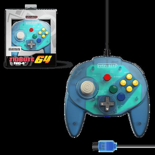 Tribute64 Controller - N64® Port - Ocean Blue (Retro)