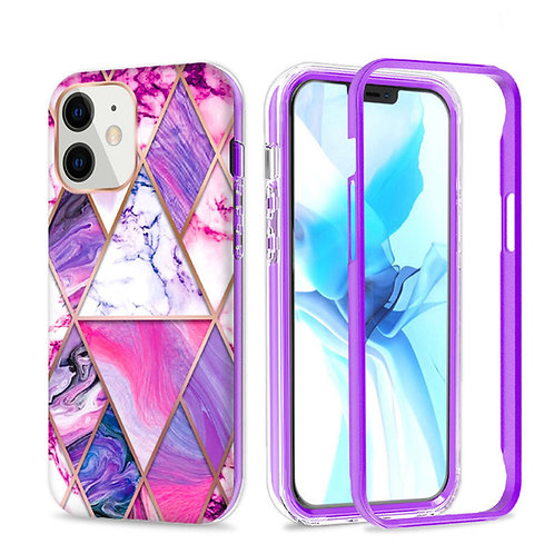 Apple iPhone 11 Hybrid Marble Pattern Stylish Full Protective Case