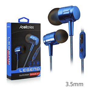 Acellories Hands Free Premium 3.5mm Earbuds w/ Volume Control