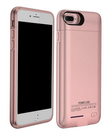 4000mAh Power Bank Charger Case for iPhone (Rose Gold)