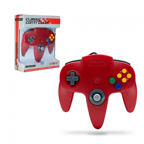 Wired Controller for N64 - Red