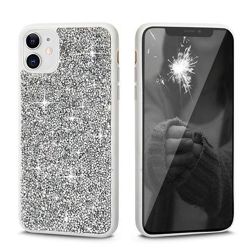 Apple iPhone 11 Rock Crystal Diamond PC + TPU Shockproof Bumper Case