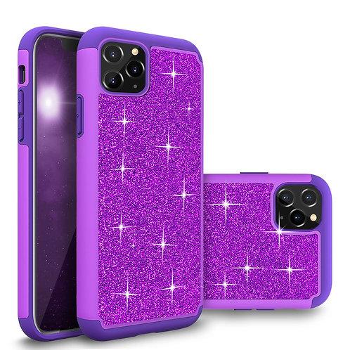 Apple iPhone 12 / iPhone 12 Pro (6.1 inch) (2020) Glitter Shockproof Bumper Case