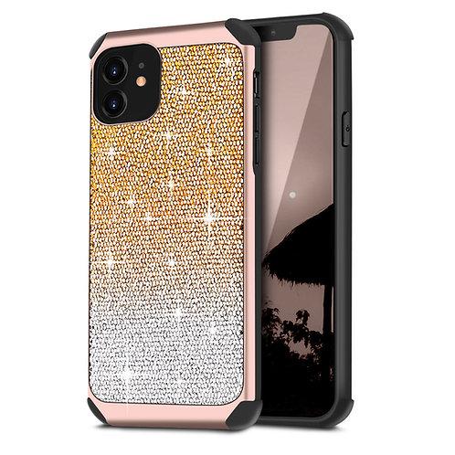 Apple iPhone 11 Hybrid Shiny Dual Shade Shiny Glitter Shockproof Case