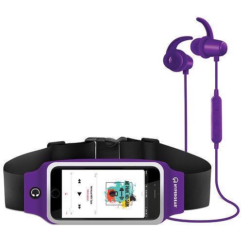 HyperGear ActiveGear Wireless Earphones + Sport Belt Set