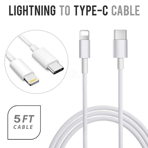 Universal Lightning  to Type-C   5Ft. Fast Charger Cable