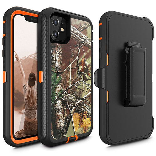 Apple iPhone 11 Heavy Duty TPU PC Holster Belt Clip Case