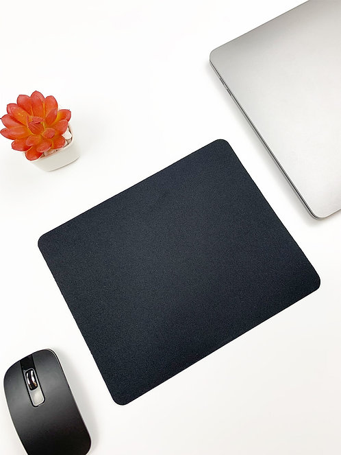 Solid Black Mouse Pad