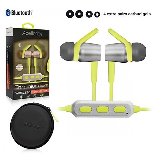 Acellories Chromium Sports Wireless Bluetooth w/ Carrying Case
