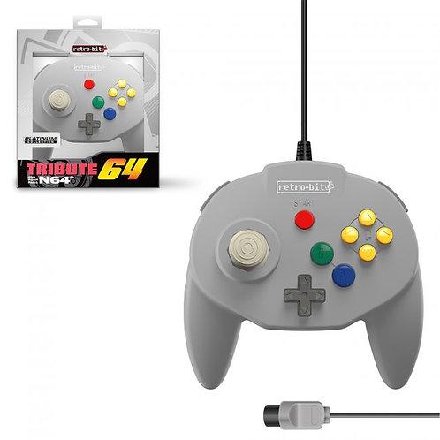 Tribute64 Controller - N64® Port - Classic Grey (Retro)
