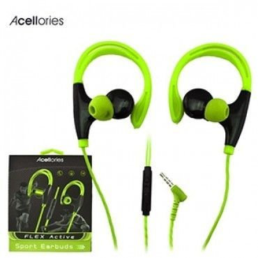 Acellories Premium Sports Hands Free 3.5mm Earbuds w/ Mic
