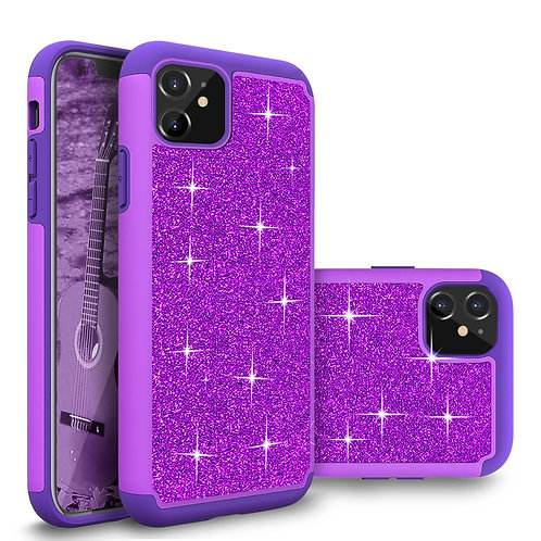 Apple iPhone 11 Glitter Shockproof Bumper Case