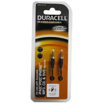 Duracell 10ft Black Stereo Audio Cable