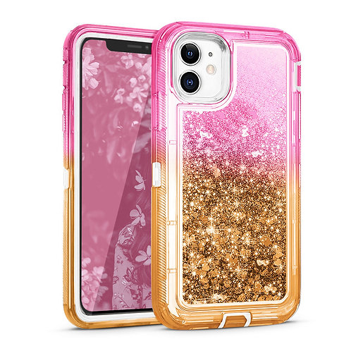 Apple iPhone 11 Liquid Glitter Quicksand Heavy Duty Hybrid Case