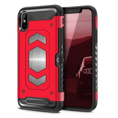 Apple iPhone XS Hybrid Armor Card Holder Shockproof Case