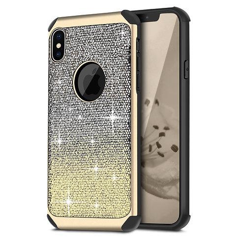 Apple iPhone XS Hybrid Shiny Glitter Shockproof Case
