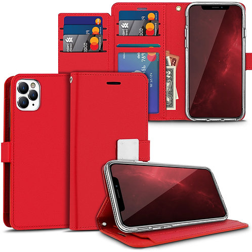 Apple iPhone 11 Pro Max Diary Style Pu Leather Wallet Flip Stand Case