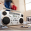 Thumbnail: GPO Brooklyn Bluetooth Boombox 80W CD Cassette FM USB Recording