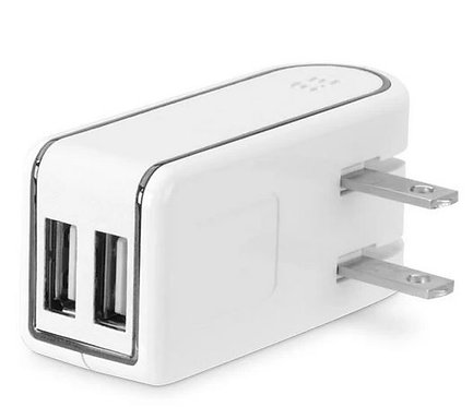 PureGear Dual USB Travel Charger 2.4A 12W