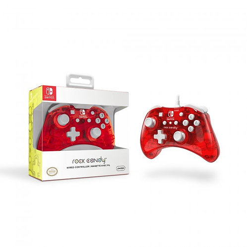 Nintendo Switch Rock Candy Wired Controller - Stormin Cherry
