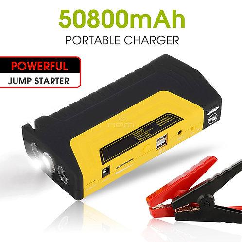 Portable Power Bank Jump Starter 50800mah w. Air Compressor