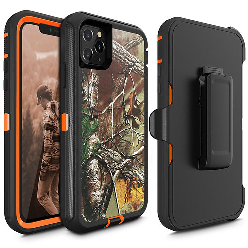 Apple iPhone 11 Pro Heavy Duty TPU PC Holster Belt Clip Case