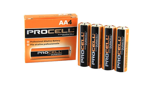 Duracell Procell Industrial Batteries AA-Cell AlkaLine (4pk)