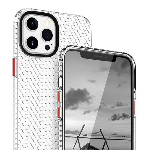 Apple iPhone 12 Pro Max (6.7 inch) Slim Hybrid Dotted Pattern Clear Case