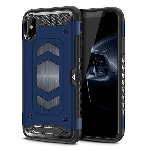 Apple iPhone XS Max Hybrid Armor Card Holder Shockproof Case