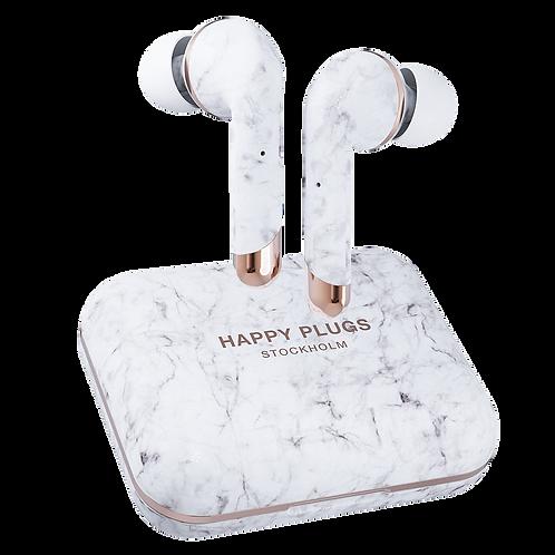 Happy Plugs - Air 1 Plus In Ear Headphones - White Marble