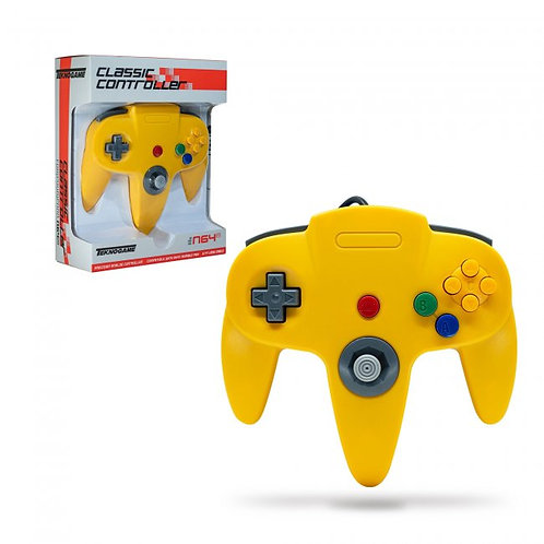 Wired Controller for N64 -Yellow