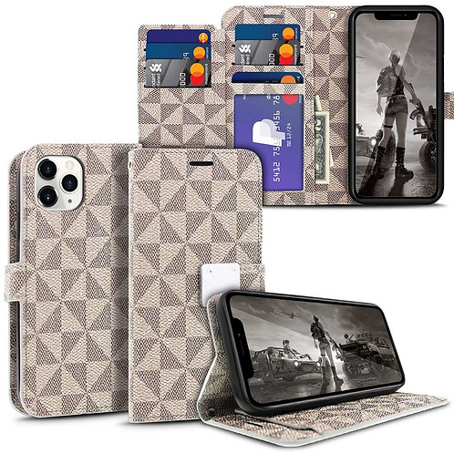 Apple iPhone 11 Pro Diary Style Pu Leather Wallet Tri-Pattern Flip Stand Case