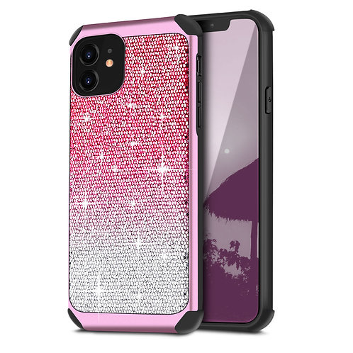 Apple iPhone 11 Hybrid Shiny Glitter Shockproof Case
