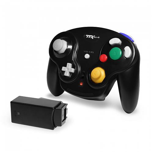 Gamecube - Controller - Wireless - Wavedash 2.4GHZ - Black (TTX Tech)
