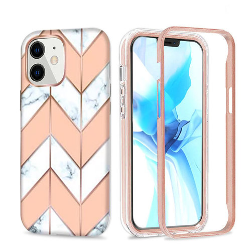 Apple iPhone 11 Hybrid Marble Pattern Stylish Full Protective Case