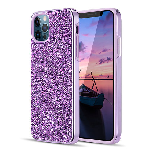 Apple iPhone 12 / iPhone 12 Pro (6.1 inch) Hybrid Shiny Diamond Protective Case