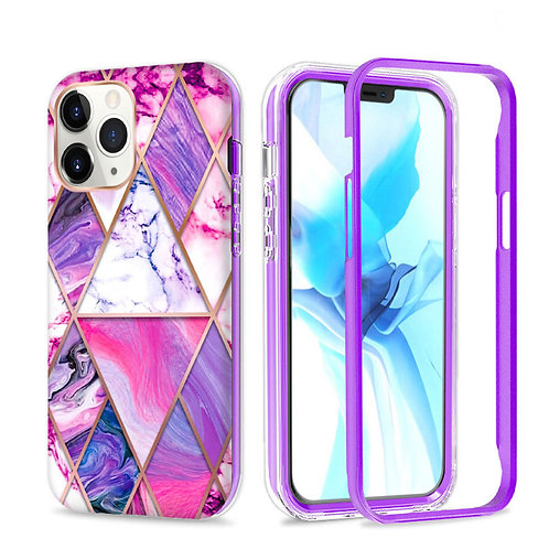 Apple iPhone 11 Pro Max Hybrid Marble Pattern Stylish Full Protective Case