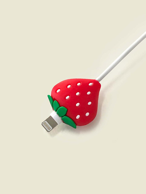 Strawberry Shaped Data Cable Protector