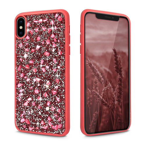 Apple iPhone XS Max Luxury Rhinestone Diamond Jewelled PC + TPU Case